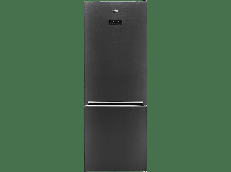 BEKO RCNE 560 E 40 ZXR  Kühlgefrierkombination (A+++, 228 kWh/Jahr, 1920 mm hoch, Dark Inox)