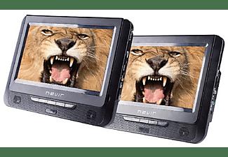 "Reproductor DVD portátil - Nevir NVR-2776 DVD-PDCU, Mando a distáncia, LCD 9"", Negro"