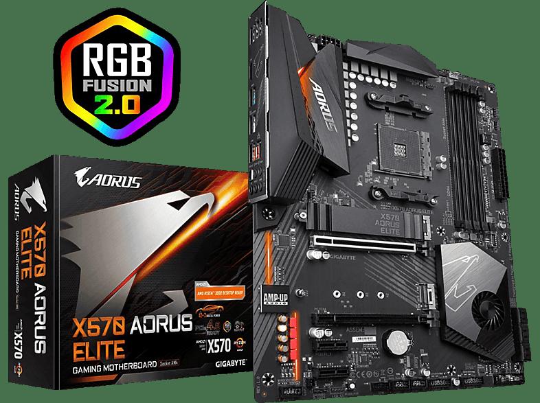 GIGABYTE X570  Aorus Elite Mainboard Schwarz