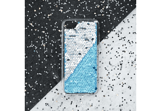HAMA Paillettes, Backcover, Apple, iPhone XR, Silber/Blau