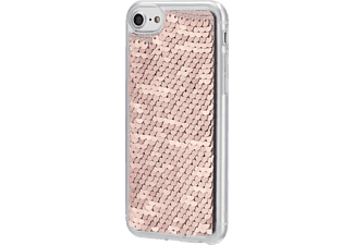 HAMA Paillettes, Backcover, Apple, iPhone XR, Silber/Kupfer
