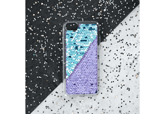HAMA Paillettes, Backcover, Apple, iPhone X, iPhone XS, Türkis/Lila