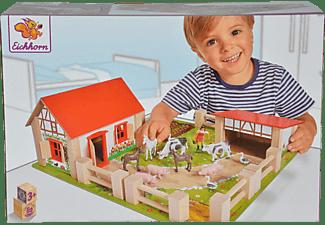EICHHORN Bauernhof, klein Holzspielset Mehrfarbig