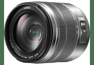 Objetivo EVIL - Panasonic H-FS14140E-S, Lumix G Vario, 14-140 mm, 75mm, F3.5-5.6, Plata