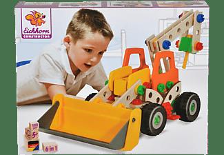 EICHHORN Radlader Konstruktionsspielzeug, Naturfarben/Mehrfarbig