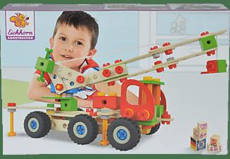 EICHHORN Kranwagen Konstruktionsspielzeug, Naturfarben/Mehrfarbig