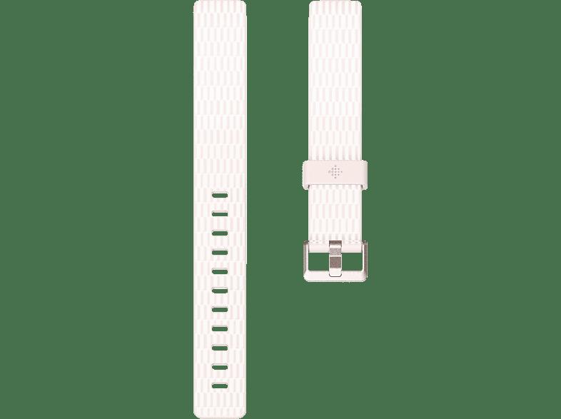 FITBIT FB169PBWTS, Ersatz-/Wechselarmband, Fitbit, Inspire, Inspire HR, Weiß