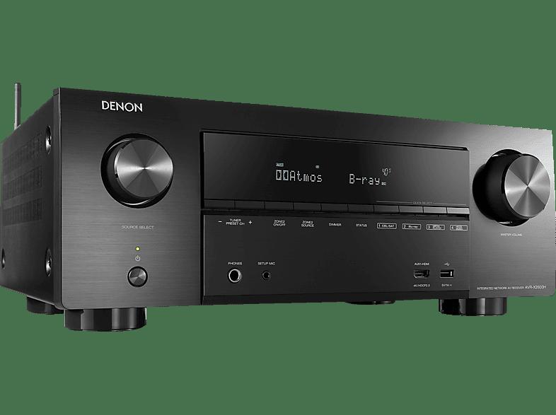 DENON AVR-X2600H AV-Receiver (7.2  Kanäle, Schwarz)