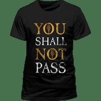 CID COMPLETELY INDEPENDENT Herr der Ringe Unisex T-Shirt Größe XXL You Shall Not Pass T-Shirt, Schwarz