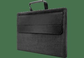 KMP Protective Sleeve Notebooktasche Sleeve für Universal, Apple, Samsung, Microsoft, HP, Lenovo, Acer Silikon, PC, bio-basiertes Material in Lederoptik, Mikrofaser, Schwarz/Anthrazit