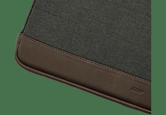 KMP Protective Sleeve Notebooktasche Sleeve für Universal; Apple, Samsung, HP, Microsoft Textil, biobasiertes Material in Lederoptik, Anthrazit/Braun