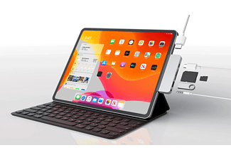 HYPER HyperDrive 6-in-1 USB-C Hub für iPad Pro 2018, silber (HD319-SILVER)
