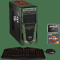 HYRICAN MILITARY GAMING 6387, Gaming PC mit Ryzen 5 Prozessor, 16 GB RAM, 480 GB SSD, 1 TB HDD, Geforce® GTX 1660, 6 GB