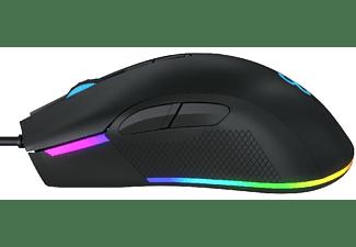 Ratón Gaming - Newskill EOS, 16000 DPI, Retroiluminado, Negro