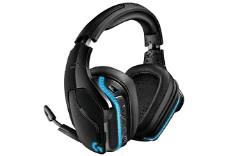 Auriculares gaming - Logitech G935, Inalámbrico, DTS Headphone:X 2.0, Transductores 50 mm, Negro y azul