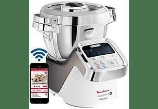 Robot de cocina - Moulinex HF906 i-Companion XL, 1550W, 16000 rpm, 13 velocidades, 4 funciones, 3 L, Bluetooth