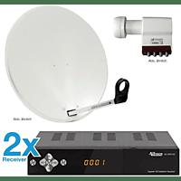 ALLVISION SAH 4000/80 HD S2 Premium HDTV Receiver (80 cm, Quad-LNB)