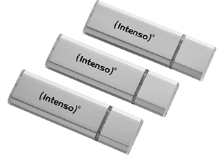 INTENSO 3521473 3er Pack USB-Stick, 16 GB, 28 MB/s, Silber
