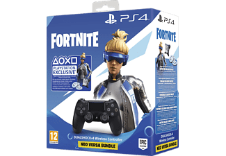 PLAYSTATION Manette Sans fil PS4 Dualshock 4 V2 Noir + Fortnite Neo Versa Bundle (9950103)