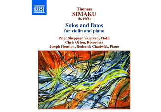 VARIOUS, Orton, Houston, Chadwick, Sheppard Skaerved - Solos and Duos for violin and piano  - (CD)