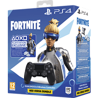 SONY DUALSHOCK 4 Wireless-Controller Jet Black:Fortnite Neo Versa Bundle Controller, Schwarz