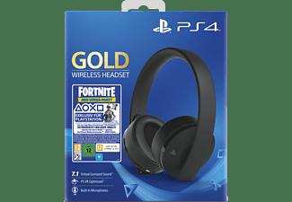 SONY Wireless-Headset Gold Edition:Fortnite Neo Versa Bundle, Over-ear Gaming Headset Schwarz
