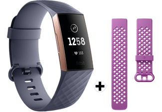 FITBIT Charge 3 Blauw/Roségoud + Sportband