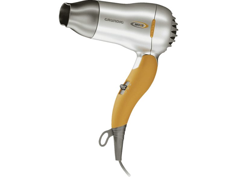 GRUNDIG HD2509 Haartrockner Silber/Orange (1500 Watt)