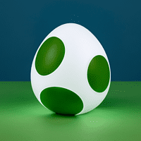 PALADONE PRODUCTS Super Mario Yoshi Ei Lampe 20cm Lampe, Weiß/Grün