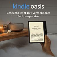 KINDLE Oasis mit Leselicht inkl. verstellbarer Farbtemperatur, wasserfest, WLAN    eBook Reader Grafit