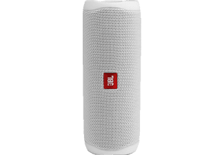 JBL Flip 5 Bluetooth Lautsprecher, Weiß, Wasserfest