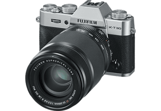 FUJIFILM X-T30 Systemkamera mit Objektiv 18-55 mm und 55-200 mm, 7,6 cm Display Touchscreen, WLAN
