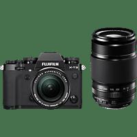 FUJIFILM Systemkamera X-T3 schwarz + Objektiv XF 18-55mm + XF 55-200mm KIT