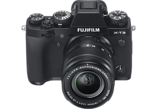 FUJIFILM X-T3 Systemkamera mit Objektiv 18-55 mm und 55-200 mm, 7,6 cm Display, WLAN