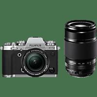 FUJIFILM Systemkamera X-T3 silber + Objektiv XF 18-55mm + XF 55-200mm KIT