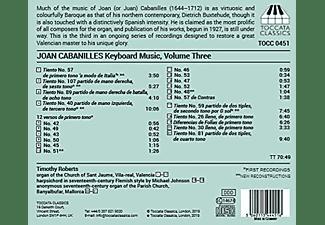 Timothy Roberts - Keyboard Music Vol.3  - (CD)