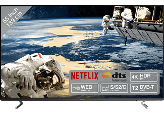 PEAQ PTV 55U0-IS LED TV (Flat, 55 Zoll / 139 cm, UHD 4K, SMART TV, Linux)