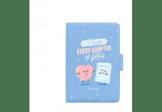 "Funda eReader - Mr. Wonderful ""I love every chapter of you"", 15.24 cm/6"", Azul, Rosa en interior"