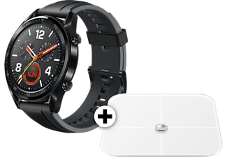 HUAWEI Watch Gt Black μαζί με Body fat scale White