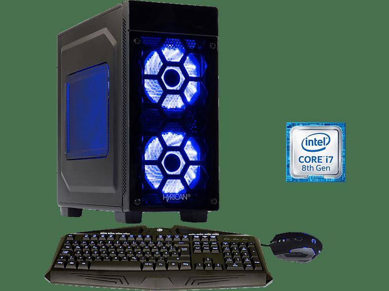 HYRICAN STRIKER 6400 BLUE, Gaming-PC mit Core™ i7 Prozessor, 16 GB RAM, 480 GB SSD, 1 TB HDD, Geforce® RTX 2060Super, 8 GB