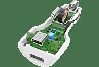 HAMA USB-C, Power Delivery (PD)/Qualcomm KFZ-Ladegerät, Weiß