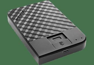 VERBATIM Fingerprint Secure Festplatte, 2 TB HDD, 2,5 Zoll, extern, Schwarz