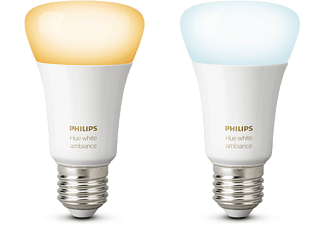 PHILIPS HUE Bluetooth - White ambiance - E27 - 2-pack