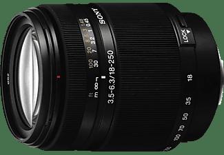 SONY SAL18250 18 mm - 250 mm f/3.5-6.3 IF, DT, Circulare Blende (Objektiv für Sony A-Mount, Schwarz)