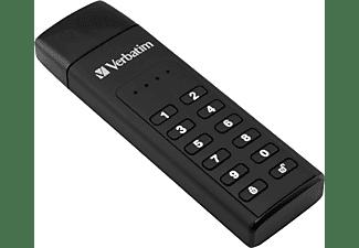 VERBATIM Keypad Secure USB-Stick, 64 GB, 160 MB/s, Schwarz