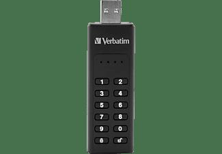 VERBATIM Keypad Secure USB-Stick, 128 GB, 160 MB/s, Schwarz