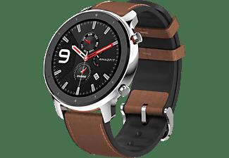 Leder Uhrenarmband Modell Canyon wasserfest dunkelbraun 22 mm