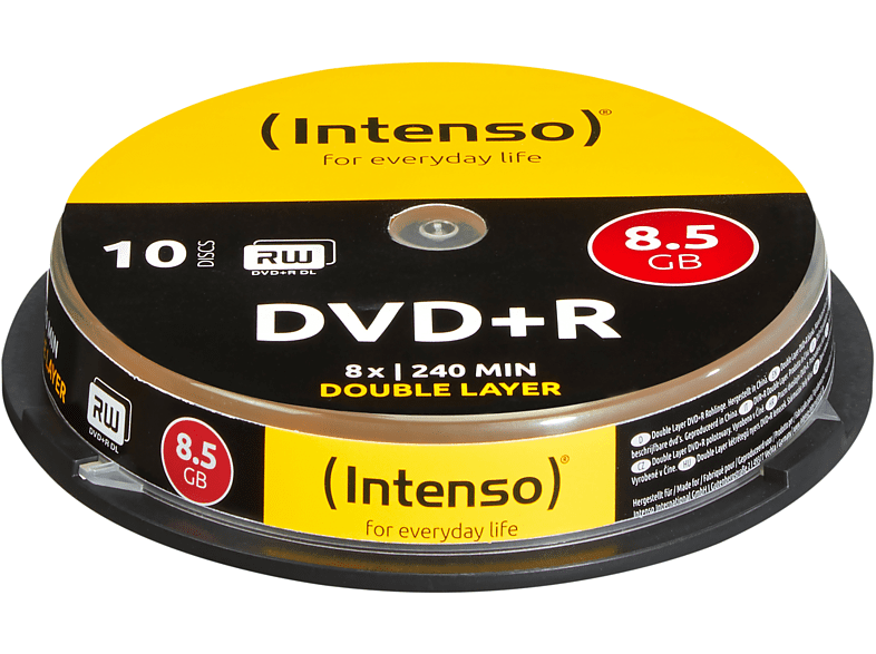 INTENSO 4311142 DVD+R Double Layer Rohlinge