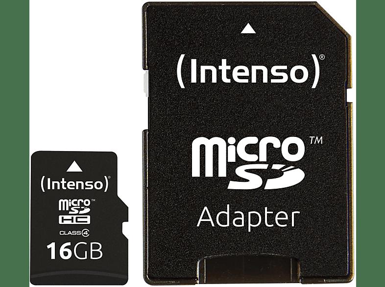 INTENSO 3403470, Micro-SDHC Speicherkarte, 16 GB, 21 MB s