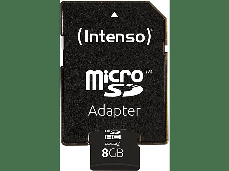 INTENSO 3403460, Micro-SDHC Speicherkarte, 8 GB, 21 MB s
